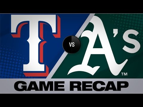 Video: Hot hitting leads the A's to a 12-3 win | Rangers-A's Game Highlights 9/21/19