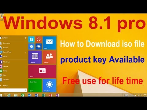 How to Download Windows 8.1 pro iso File with Product key and Activation for life time free in hindi