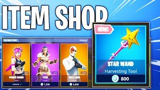 Fortnite Item Shop! NEW HARVESTING TOOL STAR WAND! Daily & Featured Items
