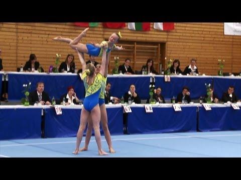 Acro Cup Albershausen 2013 WomensGroup Dynamics Youth Trust Gymnastics GB - Rolton, Edgeley, Dalton (видео)