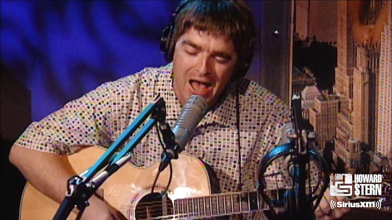 "Noel Gallagher ""Don't Look Back in Anger"" (Acoustic) on the Howard Stern Show in 1997"