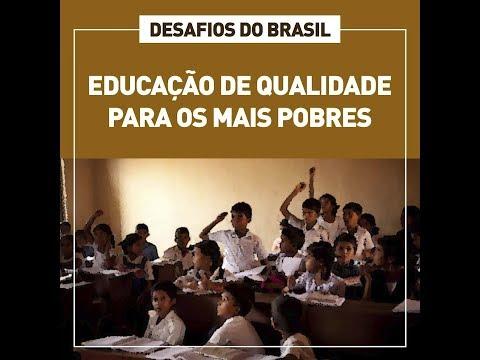 Desafios do Brasil: crianças pobres nas escolas menos preparadas