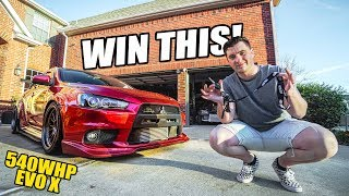 I'M GIVING AWAY MY 540WHP WIDEBODY EVO X! by Evan Shanks