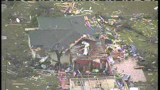 KXAS Aerial Video Of Tornado Destruction In Cleburne, TX