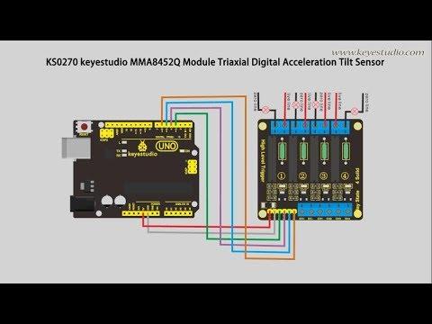 KS0270 keyestudio MMA8452Q Module Triaxial Digital Acceleration Tilt Sensor