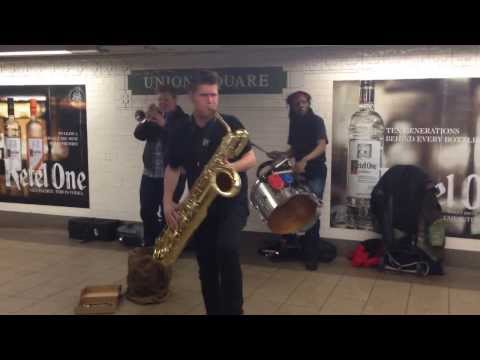 Too Many Zooz playing at Union Square. These guys rock!