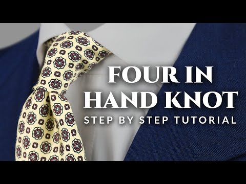 Four in Hand Tie Knot Tutorial - Step by Step How To Guide