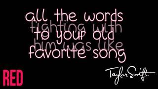 Taylor Swift - RED (Karaoke lyrics)