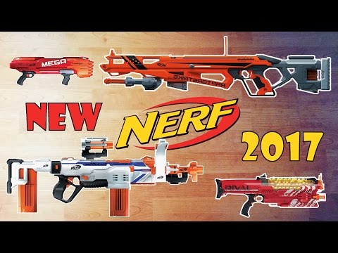 [NEWS] NEW NERF BLASTERS of 2017 | Modulus Regulator, Accustrike Raptorstrike, ...