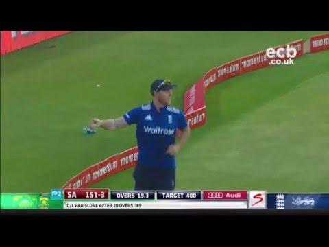 Download Sensational Ben Stokes catch off AB de Villiers HD Mp4 3GP Video and MP3