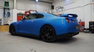 Nissan GTR Blue Vinyl Wrap