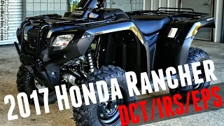 7. 2017 Honda Rancher 420 DCT + IRS + EPS 4x4 ATV (TRX420FA6H) Walk-Around Video | Black