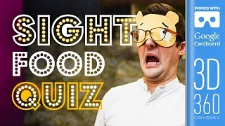 The Sight Round | Common Senses Quiz (VR) by SORTEDfood