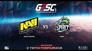 Natus Vincere vs Spirit, GESC CIS Qual, game 3 [Eiritel, Mortalles]