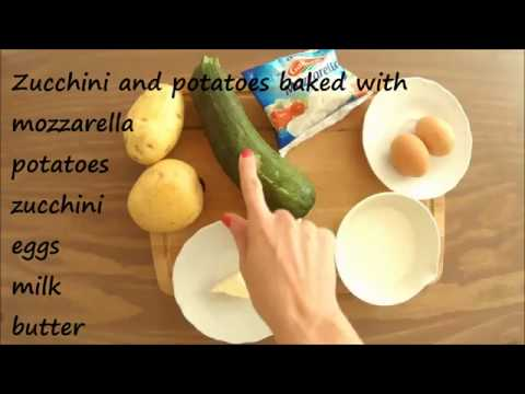 Baked Zucchini And Potatoes - Baby Food 8+ Month - Homemade Recipe