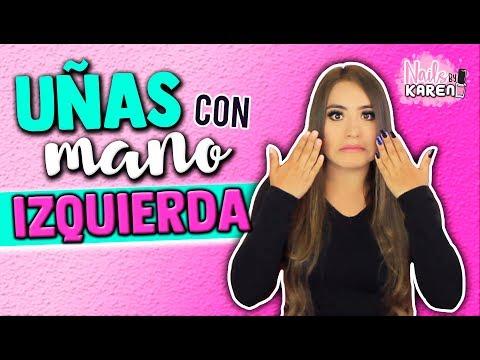 Videos de uñas - Cómo Aplicarse UÑAS con la MANO IZQUIERDA