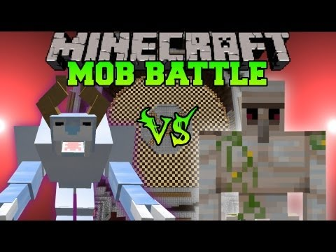 Iron Golem Vs. Snow Beast - Minecraft Mob Battles - Legendary Beasts Mod