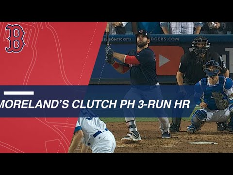 Video: Moreland hammers a pinch-hit three-run jack in Game 4