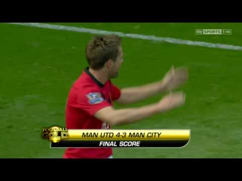 Man United Vs Man City 4-3: The Best Derby Of All Time | Full HD 1080p