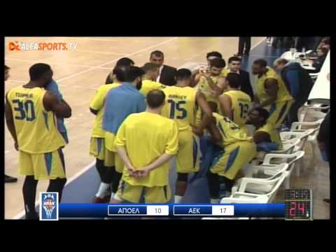APOEL-AEK 67-72 (16.01.2016, 28pts, 5reb, 2ast) No12 green