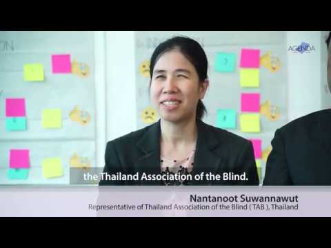 Image of the video: AGENDA Interview with Thai Disability Rights Advocates