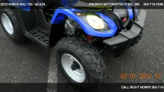 4. 2012 KYMCO MXU 150 RWD w/ reverse - for sale in VANCOUVER, WA 98665