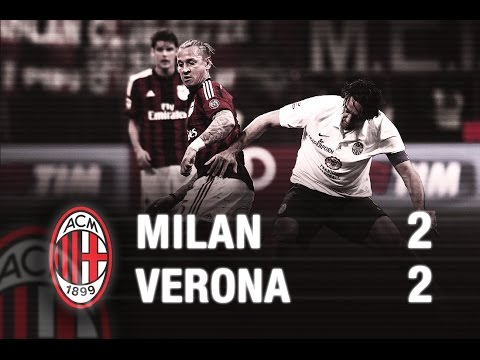 milan vs verona 2:2 - highlights