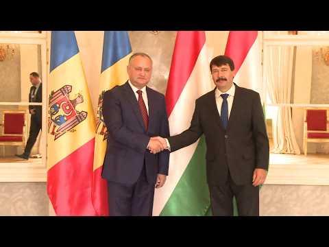 В ходе рабочего визита в Будапешт, Игорь Додон провел встречу с президентом Венгрии Яношом Адером