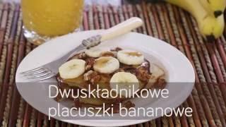Dwuskładnikowe placuszki bananowe