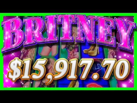 $15,917.70 JACKPOT HAND PAY On Britney Slot Machine?! Britney Spears TOXIC WINS With SDGuy1234