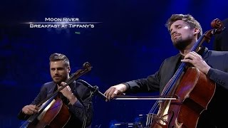 Brand new album 'Score' with the London Symphony Orchestra out NOW!iTunes - http://smarturl.it/Score2CELLOSAmazon mp3 - http://smarturl.it/Score2CELLOS-adGoogle Play - http://smarturl.it/Score2CELLOS-gpGet SCORE on CD or limited-edition Vinyl - http://store.2cellos.comhttp://www.facebook.com/2Celloshttp://www.instagram.com/2cellosofficial2CELLOS Luka Sulic and Stjepan Hauser playing Moon River from Breakfast at Tiffany's with the Sydney Symphony Orchestra at the Sydney Opera House.Guy Noble, conductorFilmed by Big Picture AustraliaDirected by Peter OtsAudio produced by Filip Vidovic, Luka Sulic and Stjepan HauserLighting design by Crt Birsa