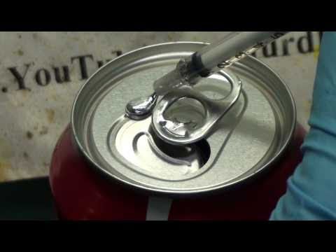 coke - We show how a normally strong and robust coke can is turned into the equivalent of wet tissue paper with gallium. If you want some gallium yourself, you can ...