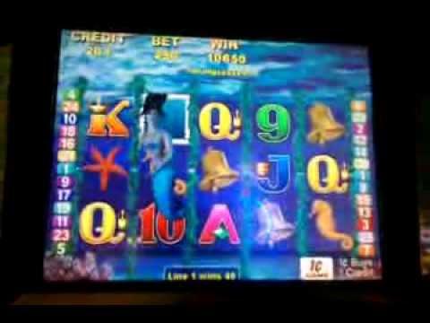 Magic Mermaid slot machine, max bet bonus round, Wynn Las Vegas, Dec 2013