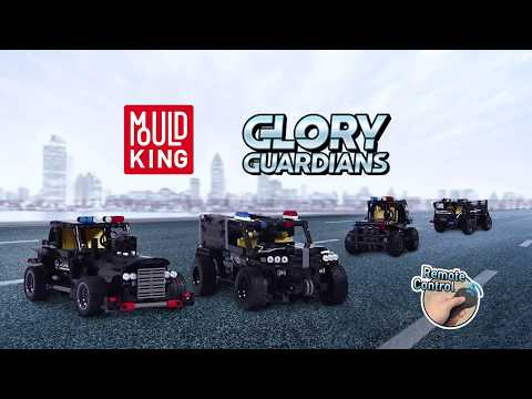 Конструктор MOULD KING «Полицейский грузовик» на радиоуправлении 13008 (Аналог LEGO Technic), 462 детали