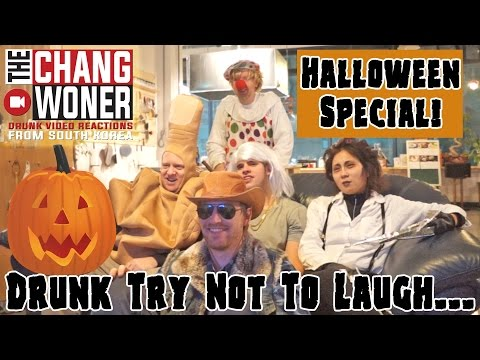 HALLOWEEN Drunk Try Not To Laugh Video Reaction