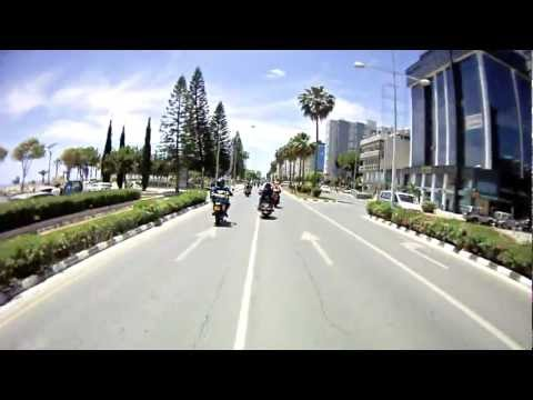 Great Bikers Ride CYPRUS Living from limassol (видео)