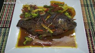 SWEET N SOUR TILAPIA WHOLE FISH How To Cook GREAT Recipe Chinese Asian Style Cooking