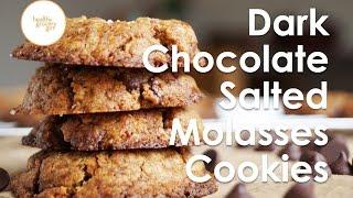 Dark Chocolate Salted Molasses Cookies