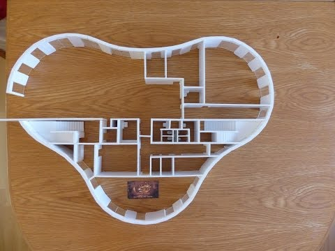 Unvollendetes Junior Uni Architekturmodell 2012.10.