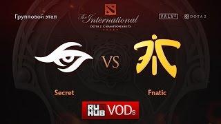 Fnatic vs Secret, game 1