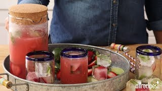 Get the recipe for Mexican Strawberry Water (Agua de Fresa) at: http://allrecipes.com/recipe/141370/mexican-strawberry-water-agua-de-fresa/ Combat the heat and take in the sunshine with side of cool when you enjoy this classic Mexican refreshment. Chill a mixture of sliced strawberries, sugar and water for a few hours, then blend and strain. Add cold water and chill several hours more. When thirst arrives, pour over ice and garnish with lime and mint and enjoy your newfound cool.Subscribe to Allrecipes @ http://www.youtube.com/subscription_center?add_user=allrecipesAllrecipes Magazine is now available!U.S. subscribers, subscribe here: http://armagazine.com/subscribenowCanadian subscribers, subscribe here: http://themeredithstore.ca/p-282-allrecipes-subscription.aspxFacebookhttp://www.facebook.com/AllrecipesTwitter @Allrecipes