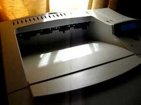 HP LASERJET 4050N IN ACTION