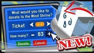 WIND SHRINE DONATION, SECRET PASSAGE, WINDY BEE, COCONUT CANISTER | Roblox Bee Swarm Simulator