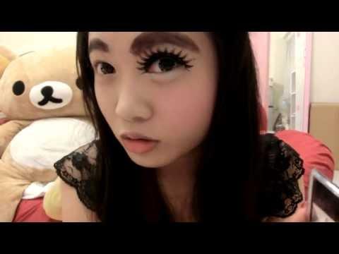 必看!可愛正妹的眼睛增大術...