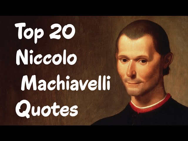 Machiavelli s the prince thesis
