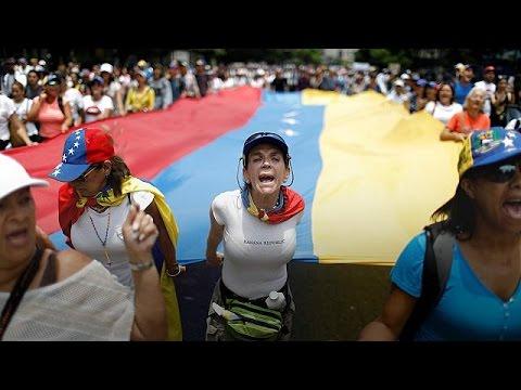 Καθιστική διαμαρτυρία κατά του Μαδούρο στη Βενεζουέλα