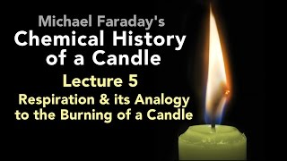 "Bill Hammack presents Lecture Five of Michael Faraday's lectures on The Chemical History of a Candle. A free companion book helps modern viewers understand each lecture — details at http://www.engineerguy.com — as does a commentary track and closed captions for each lecture.►Free Companion book to this video series http://www.engineerguy.com/faradayText of Every Lecture  Essential Background  Guides to Every Lecture Teaching Guide & Student ActivitiesIn these lectures Michael Faraday's careful examination of a burning candle reveals the fundamental concepts of chemistry, while at the same time superbly demonstrating the scientific method. In this lecture Faraday continues his investigation of the properties of carbon dioxide and then draws an analogy between the burning of a candle and mammalian respiration.LINKS TO OTHER VIDEOS IN THIS SERIES► Lectures(1/6) Introduction to Michael Faraday's Chemical History of a Candlehttps://www.youtube.com/watch?v=RrHnLXMTOWM(2/6) Lecture One: A Candle: Sources of its Flamehttps://www.youtube.com/watch?v=6W0MHZ4jb4A(3/6) Lecture Two: Brightness of the Flamehttps://www.youtube.com/watch?v=B8vSLgaW9WQ(4/6) Lecture Three: Products of Combustionhttps://www.youtube.com/watch?v=31pLJyReFXw(5/6) Lecture Four: The Nature of the Atmospherehttps://www.youtube.com/watch?v=v1DWHeouJYM(6/6) Lecture Five: Respiration & its Analogy to the Burning of a Candlehttps://www.youtube.com/watch?v=Fb4RoPEtwso► Bonus Videos: Lectures with CommentaryLecture One: A Candle: Sources of its Flame (Commentary version)https://www.youtube.com/watch?v=ce0g0e9NmgQLecture Two: Brightness of the Flame (Commentary version)https://www.youtube.com/watch?v=grWNnVB9B-4Lecture Three: Products of Combustion (Commentary version)https://www.youtube.com/watch?v=0s8anLurWp0Lecture Four: The Nature of the Atmosphere (Commentary version)https://www.youtube.com/watch?v=WLgxPKU-JsILecture Five: Respiration & its Analogy to the Burning of a Candle (Commentary version)https://www.youtube.com/watch?v=tCmZfnT6_M4►Subscribe now!  https://www.youtube.com/subscription_center?add_user=engineerguyvideo►Become an advanced viewer of Engineer Guy videos - help evaluate early draftshttp://www.engineerguy.com/previewCOMPANION BOOK DETAILSThe companion book is available as an ebook, in paperback and hardcover — and for free as a PDF. Details on all versions are at http://www.engineerguy.com/faradayMichael Faraday's The Chemical History of a Candlewith Guides to the Lectures, Teaching Guides & Student ActivitiesBill Hammack & Don DeCoste190 pages  5 x 8  14 illustrationsHardcover (Casebound)  ISBN 978-0-9838661-8-0  $24.95Paper ISBN 978-1-945441-00-4 $11.99eBook  ISBN 978-0-9839661-9-7  $3.99Audience: 01 — General TradeSubjectsSCI013000   SCIENCE / Chemistry / GeneralSCI028000   SCIENCE / Experiments & ProjectsSCI000000   SCIENCE / GeneralEDU029030  EDUCATION / Teaching Methods & Materials / Science & TechnologyThis book introduces modern readers to Michael Faraday's great nineteenth-century lectures on The Chemical History of a Candle. This companion to the YouTube series contains supplemental material to help readers appreciate Faraday's key insight that ""there is no more open door by which you can enter into the study of science than by considering the physical phenomena of a candle."" Through a careful examination of a burning candle,  Faraday's lectures introduce readers to the concepts of mass, density, heat conduction, capillary action, and convection currents. They demonstrate the difference between chemical and physical processes, such as melting, vaporization, incandescence, and all types of combustion. And the lectures reveal the properties of hydrogen, oxygen, nitrogen, and carbon dioxide, including their relative masses and the makeup of the atmosphere. The lectures wrap up with a grand, and startling, analogy: by understanding the chemical behavior of a candle the reader can grasp the basics of respiration. To help readers understand Faraday's key points this book has an ""Essential Background"" section that explains in modern terms how a candle works, introductory guides for each lecture written in contemporary language, and seven student activities with teaching guides.Author BiosBill Hammack is a Professor of Chemical & Biomolecular Engineering at the University of Illinois—Urbana, where he focuses on educating the public about engineering and science. He is the creator and host of the popular YouTube channel engineerguyvideo. Don DeCoste is a Specialist in Education in the Department of Chemistry at the University of Illinois—Urbana, where he teaches freshmen and pre-service high school chemistry teachers. He is the co-author of four chemistry textbooks."