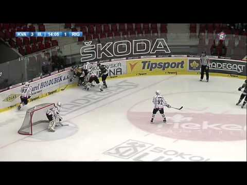 MHL: HC Energie - HK Riga, 3. třetina