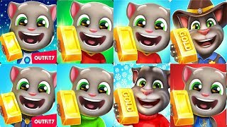 Talking Tom Gold Run Android Gameplay - Football Tom Talking Angela Frosty Tom Zombie Ben