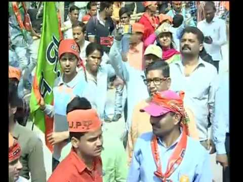 PM Shri Narendra Modi's road show in Varanasi, Uttar Pradesh - 04.03.2017